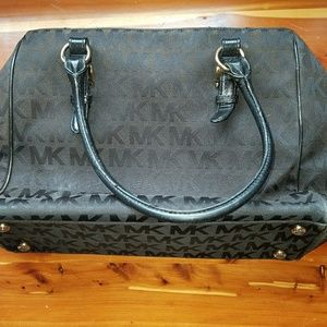 MK tote bag, authentic, black, preowned